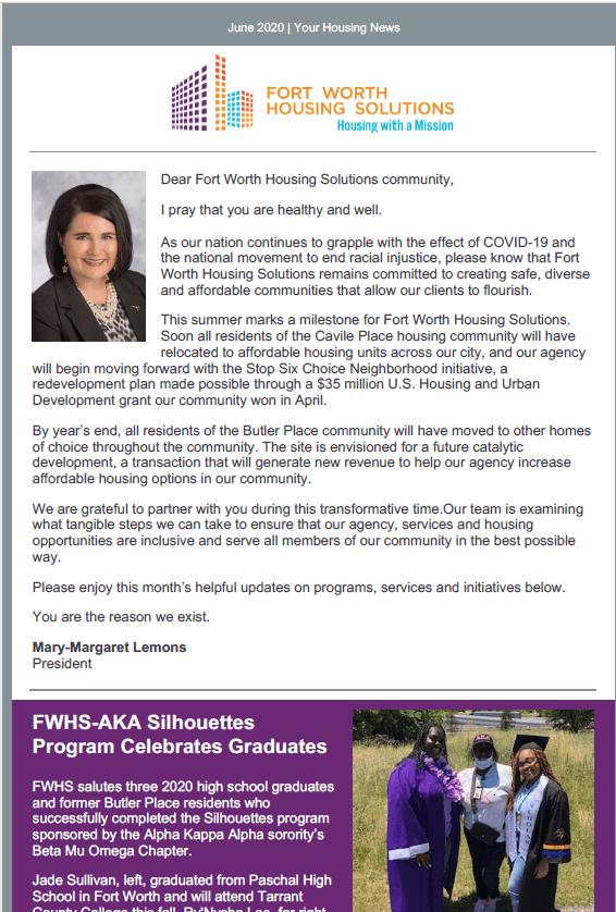 June 2020 FWHS Client Newsletter