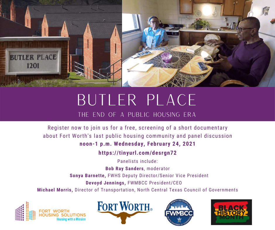Virtual Butler Place Video Screening, Panel Discussion Set for Feb. 24